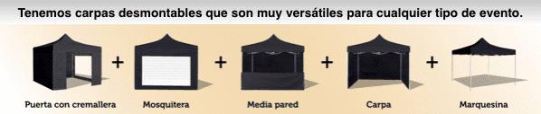 carpas plegables negras rsm