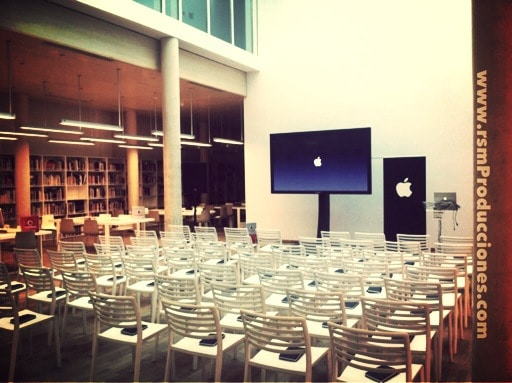 conferencia apple alquiler sillas