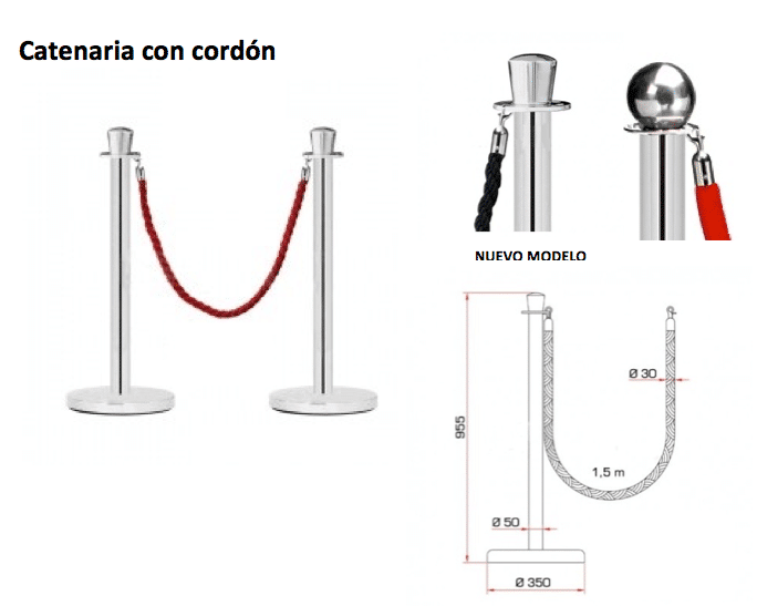 CATENARIA CORDON ROJO RSM PRODUCCIONES