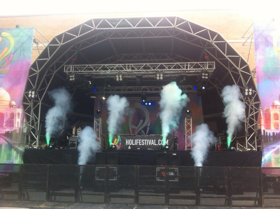 Holi Festival escenario RSM